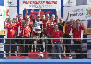 Checa, Team Althea Ducati, Portuguese WSBK Race 1 2011