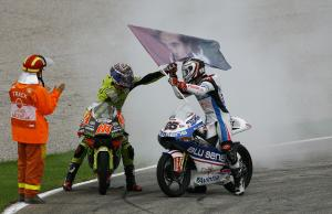 Terol and Vinales, 125 race, Valencia MotoGP 2011