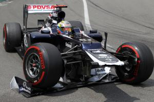 27.05.2012- Race, Pastor Maldonado (VEN) Williams F1 Team FW34 crash
