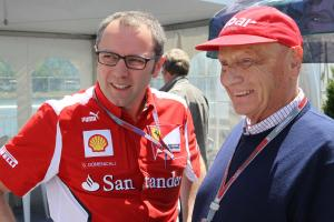 09.06.2012- Stefano Domenicali (ITA), Team Principal and Nikki Lauda (AU)