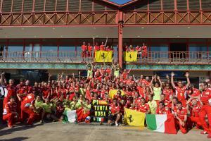 24.06.2012- Celebration, Fernando Alonso (ESP) Scuderia Ferrari F2012 race winner