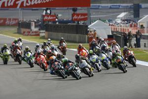 Pol Espargaro leads start, Moto2 race, Japan MotoGP 2012
