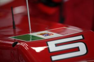 26.10.2012- Free Practice 2, The car of Fernando Alonso (ESP) Scuderia Ferrari F2012 with the flag o