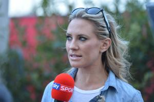 16.11.2012 - Georgie Thompson (GBR) Sky sport F1 presenter