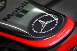The new chrome design on the McLaren-Mercedes MP4-21