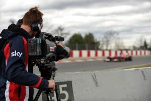 Sky F1 3D cameraman films Fernando Alonso (ESP) Ferrari F138.01.03.2013.