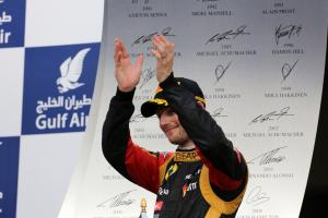 21.04.2013- Race, 3rd position Romain Grosjean (FRA) Lotus F1 Team E21