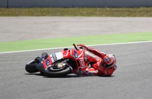 Hayden crash,  Catalunya MotoGP 2013
