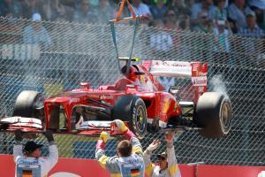 07.07.2013-  Race, Felipe Massa (BRA) Scuderia Ferrari F138 retires from the race