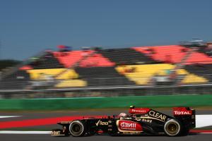 05.10.2013- Free practice 3, Romain Grosjean (FRA) Lotus F1 Team E213