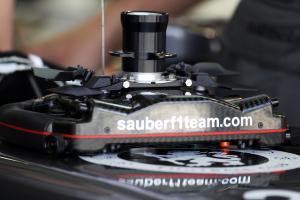 Sauber C33 steering wheel.21.02.2014. Formula One Testing, Bahrain Test One, Day Three, Sakhir, Bah