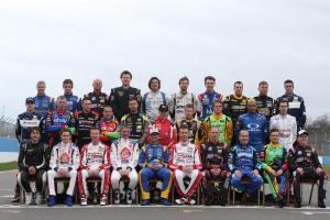 BTCC Drivers class photo for 2014