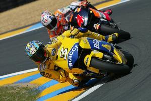 Biaggi and Barros,  French MotoGP 2004