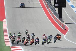 Start, MotoGP race, Grand Prix of the Americas, 2017.
