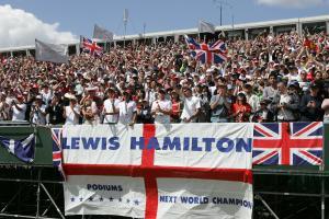 Lewis Hamilton fans.British Formula One Grand Prix.Silverstone, UK.July 8th 2007.