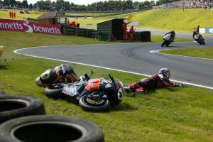 Jonathan Rea (GBR), HM Plant Honda, CBR1000RR, 4, Superbike; Crashes with Leon Camier; Bikeanimal.co