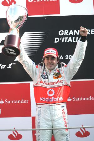 Fernando Alonso (ESP) McLaren MP4/22, Italian F1, Monza, 7-9th, September 2007