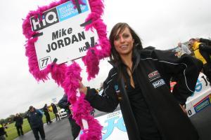 Grid girl for Mike Jordan (GBR) Team Eurotech Honda