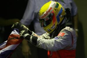 Lewis Hamilton (GBR) McLaren MP4-23 Is Champion, Brazilian F1 Grand Prix, Interlagos, 30th October 2