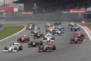 Start, German F1 Grand Prix, Nurburgring, 10-12th, July 2009