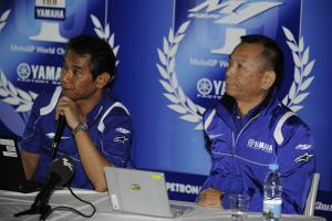 Nakajima and Furusawa, Yamaha technical presentation, Valencia MotoGP 2009