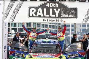 Podium Jari-Matti Latvala (FIN) Miikka Antilla (FIN) Ford Focus RS WRC 09
