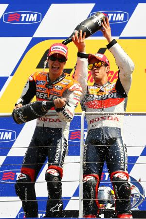 Pedrosa and Dovizioso, MotoGP race,  Italian GP 2010