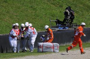 Rossi crash, Itaian MotoGP 2010