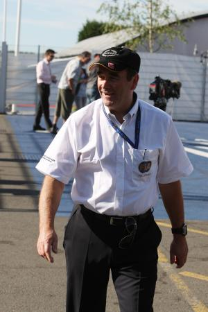 Saturday, Nigel Mansell (GBR) FIA Race Steward this weekend