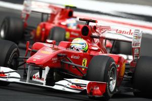 Race, Felipe Massa (BRA), Scuderia Ferrari, F10 leads Fernando Alonso (ESP), Scuderia Ferrari, F10