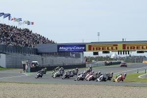 Biaggi, Race Start, French WSBK Race 1 2010