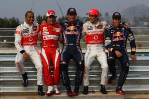 Thursday, The five Championship contenders line up for a photo: Lewis Hamilton (GBR), McLaren  Merce