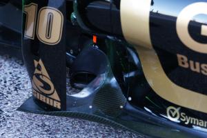 Lotus Renault GP, R31, exhaust system