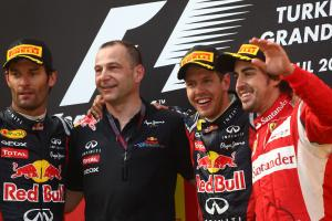 08.05.2011- Race, Sebastian Vettel (GER), Red Bull Racing, RB7 race winner, Mark Webber (AUS), Red B