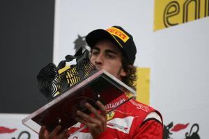 31.07.2011 podium: 3rd Fernando Alonso (ESP), Scuderia Ferrari, F-150 Italia