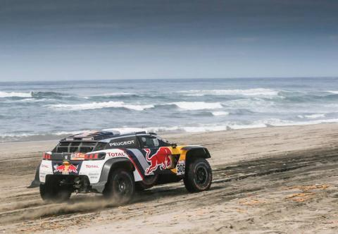 Loeb wins stage in Peugeot domination, Sunderland drops out