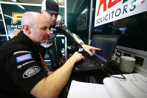 Phil Borley and Michael Laverty, French MotoGP 2013
