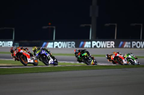 Marquez and Rossi, Qatar MotoGP 2014