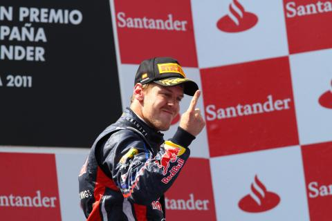 22.05.2011- Race, Sebastian Vettel (GER), Red Bull Racing, RB7 race winner
