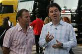 ,  - ITV`s Martin Brundle and James Allen do their piece to camera at the Italian Grand Prix
