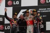 ,  - 12.06.2011- Race, Jenson Button (GBR), McLaren  Mercedes, MP4-26 race winner, Sebastian Vettel (GER)