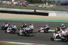 Sykes, Race start, German WSBK Race 1 2012