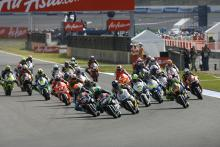 Pol Espargaro leads start, Moto2 race, Japan MotoGP 2012