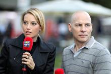 15.03.2013- Sarah Winkhaus (ITA), SKY TV and Jacques Villeneuve (CAN)