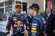 26.05.2013- Race, Mark Webber (AUS) Red Bull Racing RB9 and Sebastian Vettel (GER) Red Bull Racing R