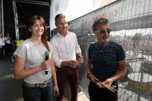 Suzi Perry, David Coulthard and Eddie Jordan - BBC presenting team
