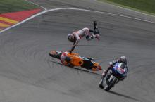 Pedrosa crash, Aragon MotoGP 2013