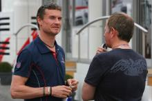 13.05.2006 Granollers, Spain, David Coulthard (GBR), Red Bull Racing & Martin Brundle (GBR) ITV-F1 C