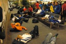 The drivers and teams wait at Buenos Aires airport. Rally Argentina, May 3-6 2007.