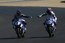 Spies and Mladin, AMA Superbike US MotoGP Race 2007